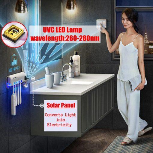 Solar UV Light Intelligent Toothbrush Holder