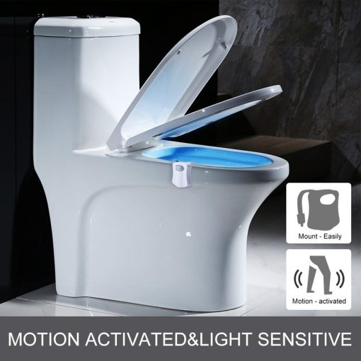 Motion-activated Toilet LED Night Light Seat Lamp