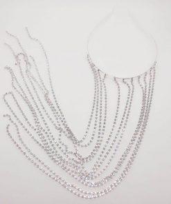 Long Tassel Rhinestone Head Chain Headwear For Women