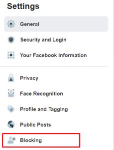 Block apps in Facebook settings