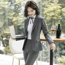 סט חליפת מכנסיים 2 חלקים סוודר בלייזר בצבע אחיד מעיל & מכנסיים