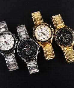 שעון טומי הילפיגר Tommy Hilfiger רצועת כסף זהב