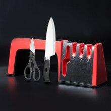 4 ב 1 סכין מטבח קרמי ומספריים מצופה יהלום