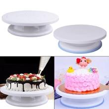צלחת פלסטיק מסתובבת לעוגה