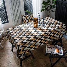 סגנון בוהמי מפת שולחן מכותנה גלי מודפס מלבני