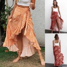 חצאית לנשים פרחונית גבוהה