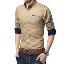 חולצה שרוול ארוך מכותנה לגברים