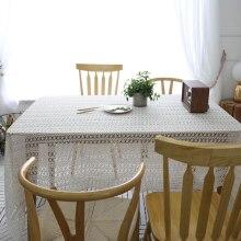 מגבת מפת שולחן סרוגה סגנון פסטורלי