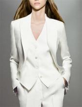 חליפת נשים לבנות 3 חלקים סט בלייזר מעיל & מכנסיים & חליפת אפוד לנשים