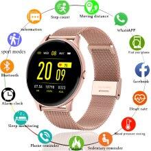שעון חכם נשים מודד קצב לב לחץ דם תזכורות