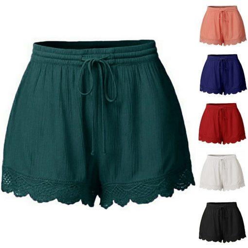 מכנסיים קצרים לנשים דגם Femme תחרה Feminino Spodenki