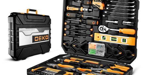 ארגז כלים 196 חלקים DEKO במזוודה מהודרת